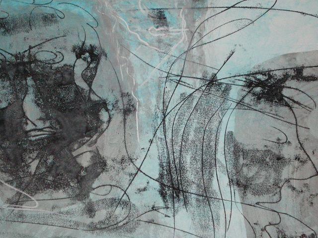 Abstraktion in Acryl von Christine Schöller