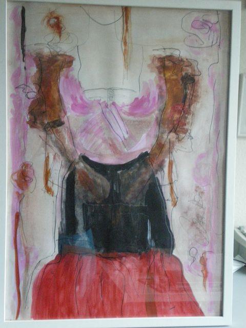 Studie eines Kleides