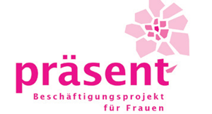 Logo von präsent – Beschäftigungsprojekt für Frauen