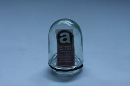 Asbest, Glas(Baulampe), Aufkleber