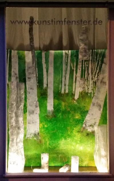 Birkenwald im Fenster
