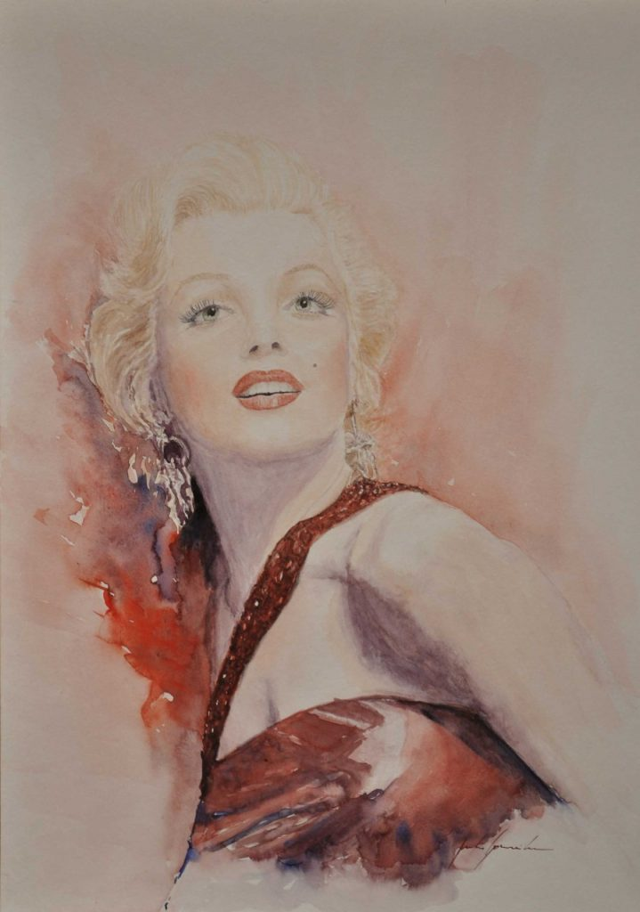 MarylinMonroe-Aquarell
